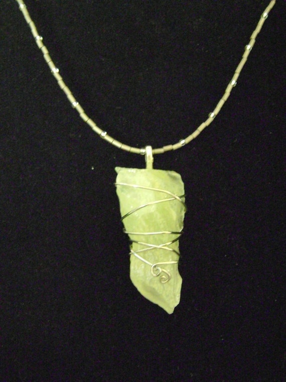 Green calcite jewelry