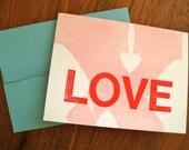 Typographic Letterpress Valentine with Vintage Woodtype