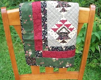 Flower Basket Mini Quilt Wall Hanging