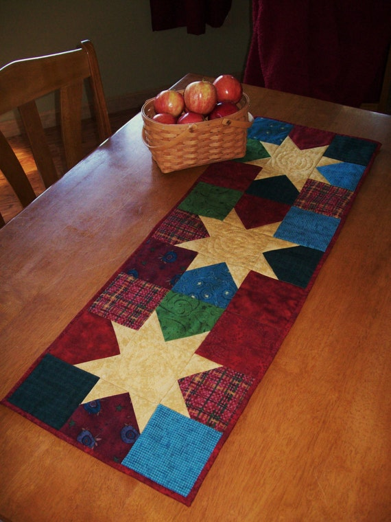 Star Quilted Table Runner