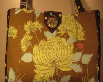 Elizabeth Large Floral Polka Dot Handbag