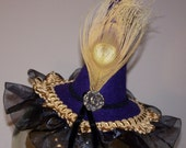 reserved for Taken by the Sky golden feather mini witch hat