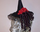 reserved for Taken by the Sky red rose mini witch hat