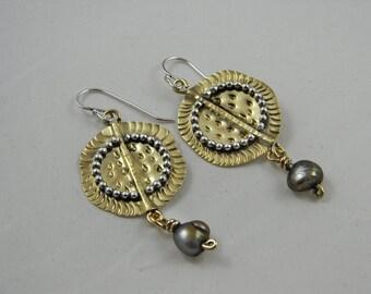 Bronze Circle Earrings