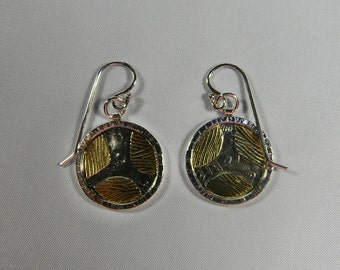 Sterling Silver and 18k Gold Bi Metal Rounds