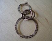 Modernist Copper Concentric Circles Necklace Pendant