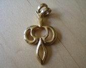 Vintage 60s Modernist Dagger Gold tn Necklace Pendant