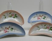 Vintage Hand Painted China Bone Dishes