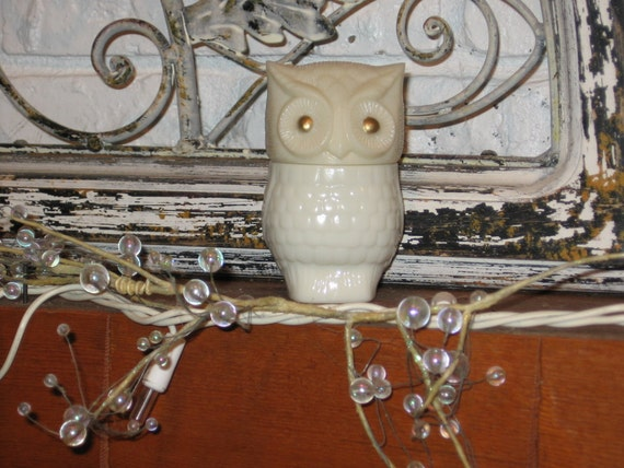 Vintage Avon Owl Bottle Up-Cycled