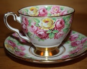Roses cup and saucer