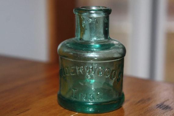 Antique ink bottle aqua
