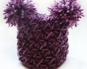 Pom Pom Baby Hat - Crochet Pattern - Jester Hat - Crochet Pom Pom Hat - Double Pom Pom - Beanie - Winter Hat