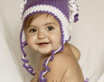 Curly-Cue Hat - Crochet Pattern