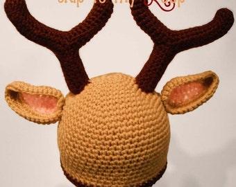 Reindeer Hat - Crochet Pattern