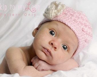 Cluster Hat - Crochet Pattern - Spring Hat - Crochet Cluster Hat - Baby Hat - Easy Hat Pattern