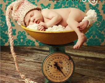 Elf Hat - Crochet Pattern - Baby Hat - Long Tail Hat - Pixie Hat - Photography Prop - Baby Elf Hat