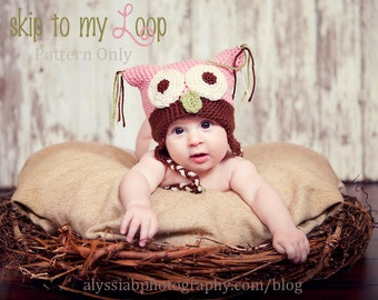 Baby Owl Hat - Crochet Pattern - Costume - Photography Prop - Baby Hat - Animal Hat - Winter - Crochet Pattern Owl Hat