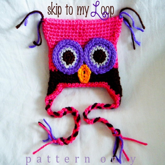 Crochet Baby Girl Owl Hat Pattern : Baby Owl Hat Crochet Pattern