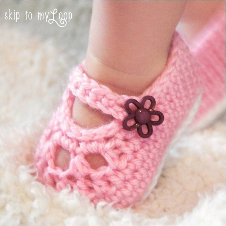 Free Crochet Pattern For Mary Jane Baby Slippers : Mary Jane Baby Shoe Pattern images