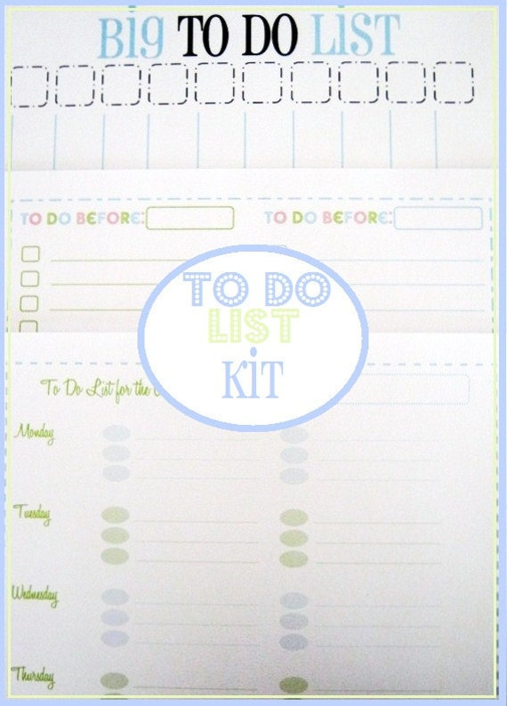 The To Do List Kit - 3 documents