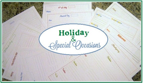 50% OFF - The Holiday and Special Occasions Planning Kit - 16 documents