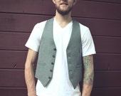 Vintage Mens button vest