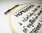 Homeostasis Definition - Embroidery Hoop Wall Art