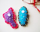 40% OFF - Microbial Magnet Set - Amoeba and Paramecium Felt Magnets - Biology, Science, Microbiology