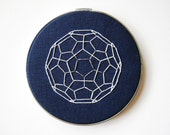 Buckyball Carbon Sphere - Chemistry Embroidery Hoop Geometric Art
