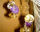 Amethyst And Citrine Dangle Earrings - Mothers Day Sale - Get 10%off everything in the store by using 'MOM11' coupon code