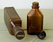 Small Brown Vintage Medical Bottles