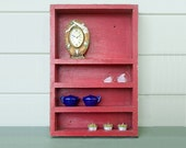 Red Wood Vintage Shelf