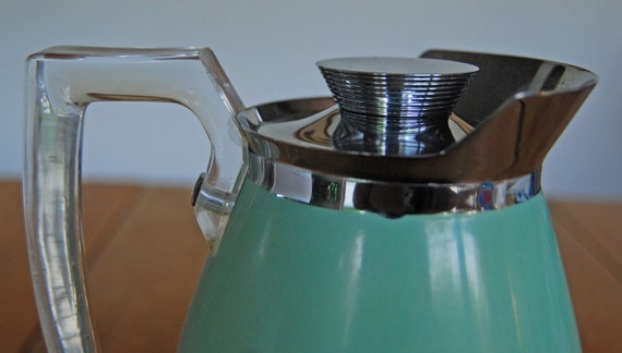 1940s  Art Deco Thermos Pitcher w/ Lucite Handle