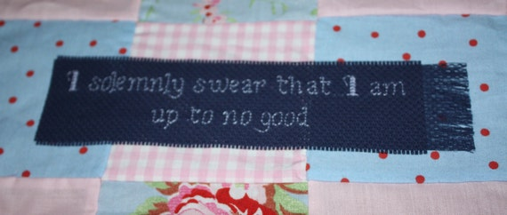 I solemnly swear that I am up to no good - Harry Potter themed cross stitch bookmark