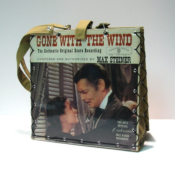 Vintage Gone With The Wind Record Album Handbag Tote Purse