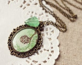 Pine Cone Vintage Art Pendant Necklace