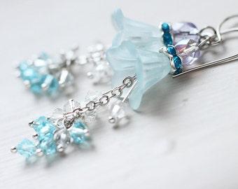 Bridesmaid Jewelry Flower Earrings - Hyacinth