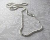 "Sterling Silver 16"" Italian Bombata Chain Necklace"