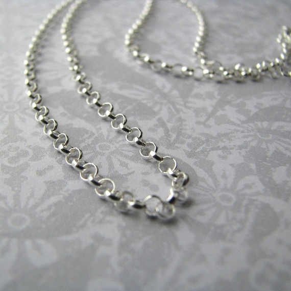 """Sterling Silver Rolo Chain Necklace, 16"""""""
