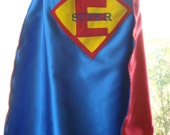 Custom Embroidered Initial Superhero Cape