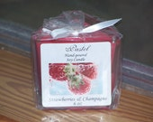Strawberries and Champagne Soy Candles, 6 oz Votive