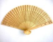 Vintage  Wood Paper Fan
