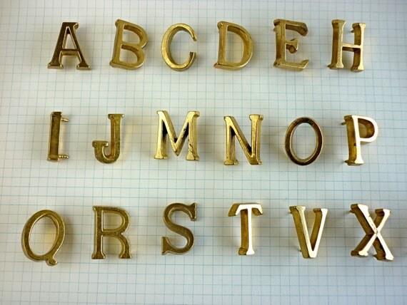 RESERVE Vintage Brass Letters Nails STVMP