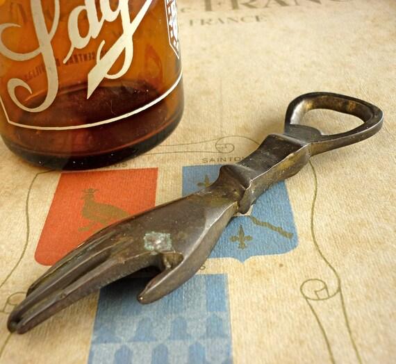 Vintage Hand Brass Bottle Opener