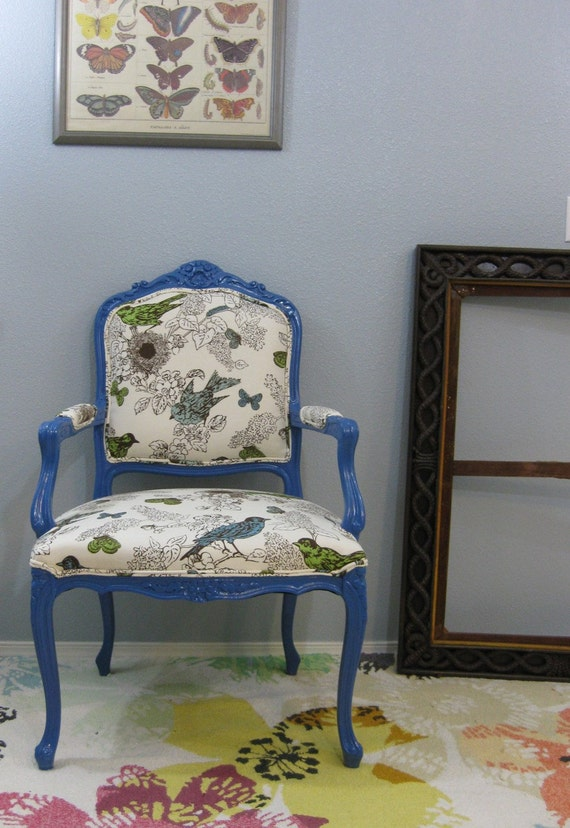 Royal Blue Bird Throne Thomas Paul Chair