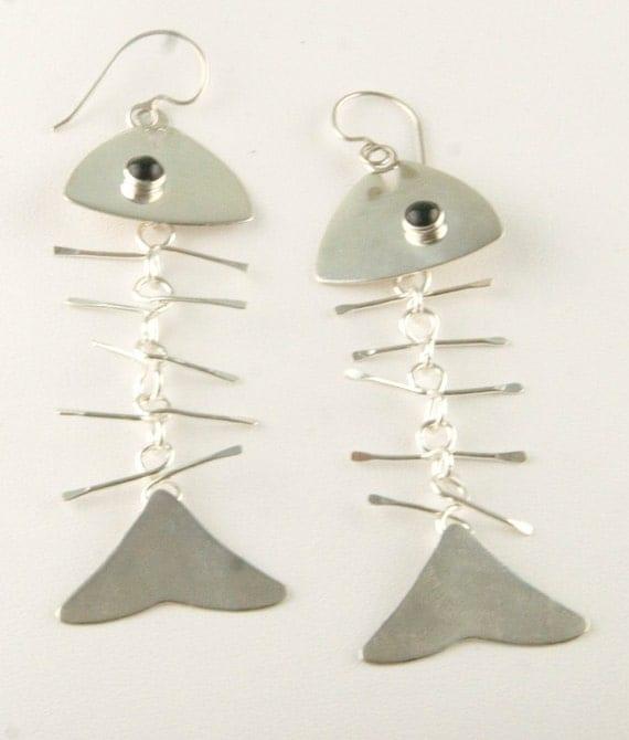 Fish bone earrings for Fish bone earrings