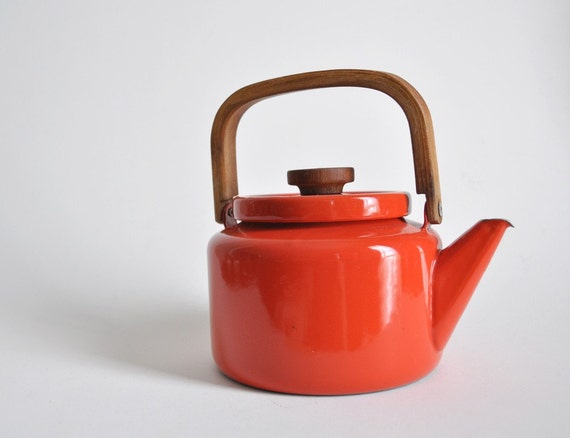 retro tea kettle retro enamel tea kettle by picapicafound on etsy 1949