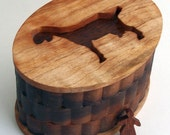 Decorative Nubian Dairy Goat Cameo Box - spalted maple