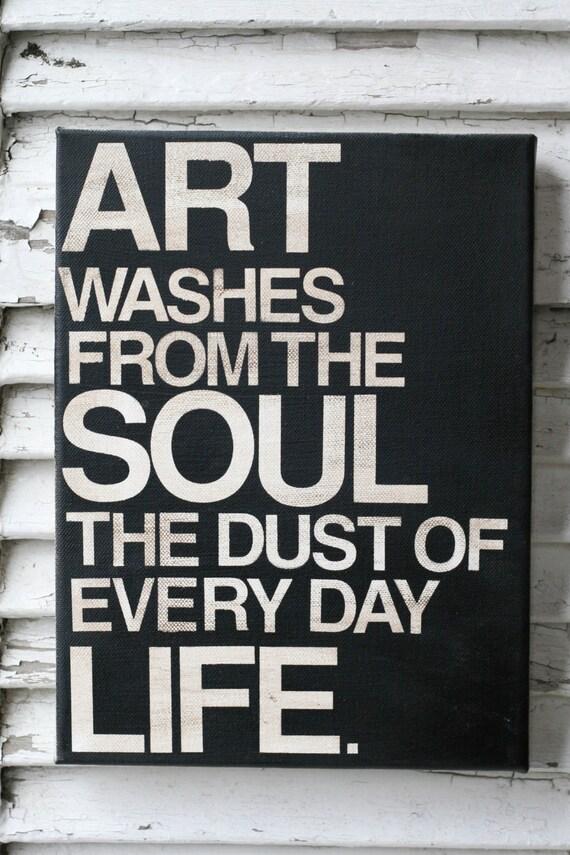 Canvas Quotes Picasso