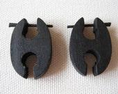 SALE Wooden stick earrings